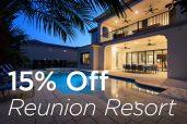 15% Off Reunion Resort Special