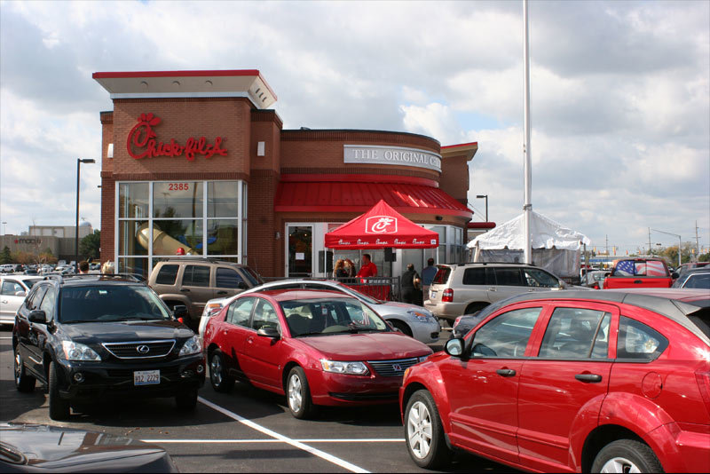 Chick Fil A Restaurants Merrillville Exterior