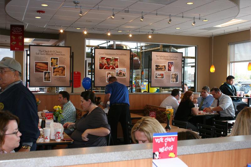 Chick Fil A Restaurants Merrillville Interior