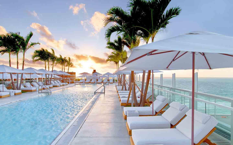 1 Hotel's Beautiful Sunrise Beach View and Pool
