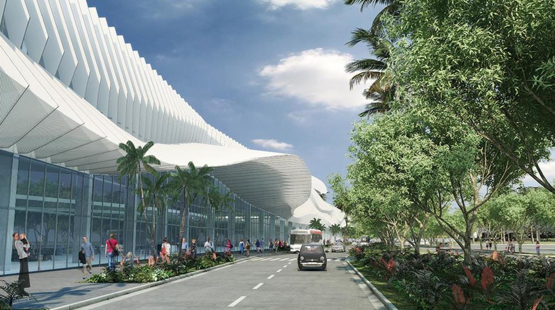 Miami Beach Convention Center main entrance on Convention Center Drive