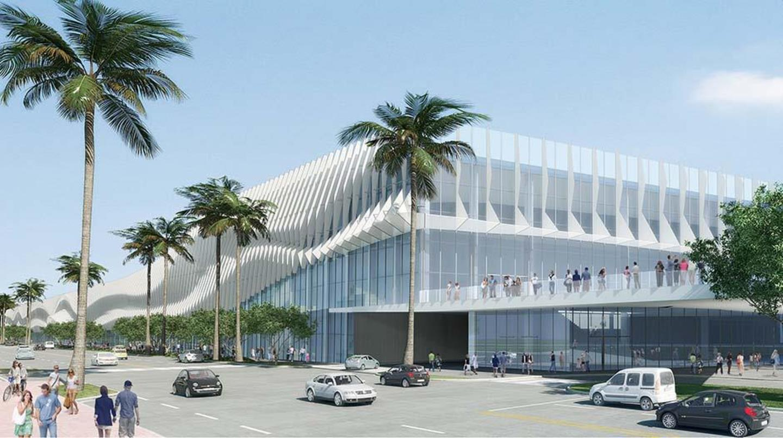 View of northeast corner of Miami Beach Convention Center
