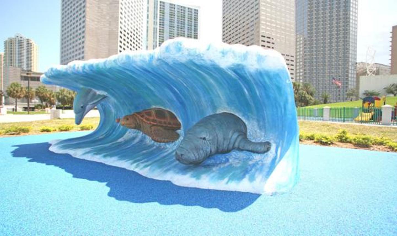 Wave Sculpture at the Lee & Tina Hills Playground