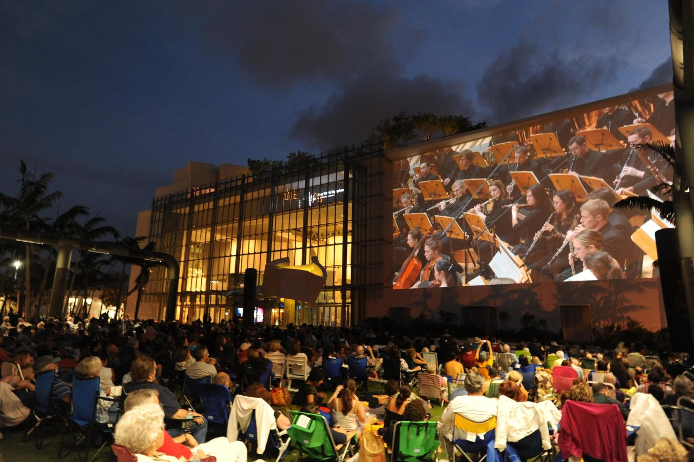 New World Symphony WALLCAST concert at New World Center - photo by WorldRedEye