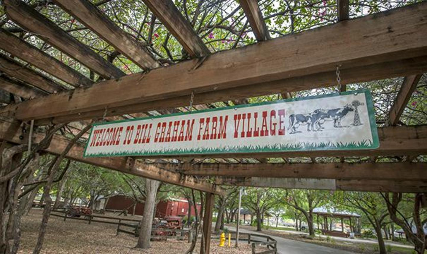 Farm Village Welcome Sign
