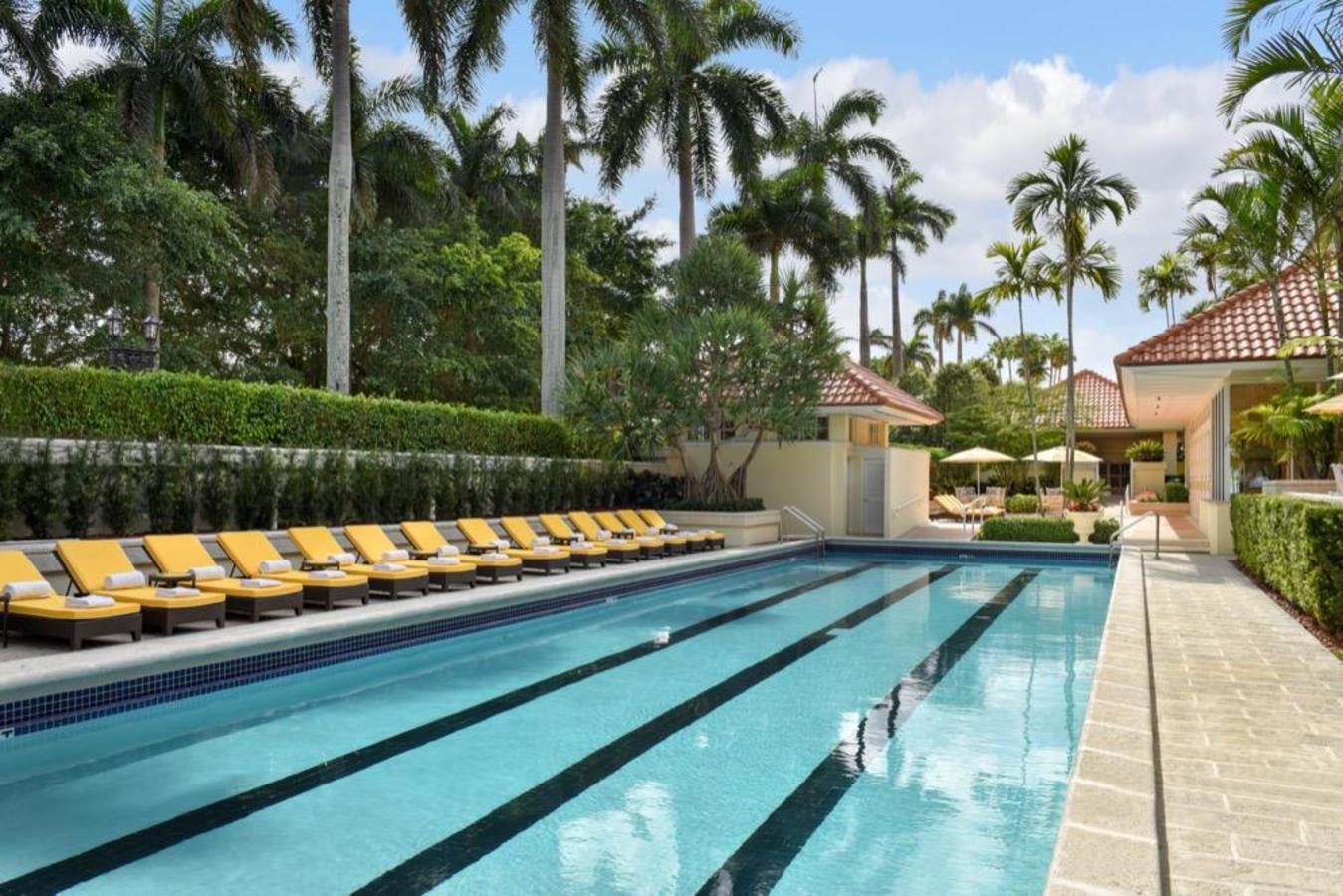 The Trump Spa 25-meter Outdoor Lap Pool