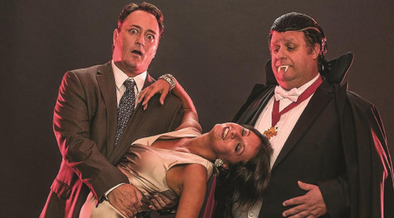 Todd Allen Durkin, Vera Varlamov and Ken Clement in Bite Me Summer Shorts 2013 (City Theatre, Miami)