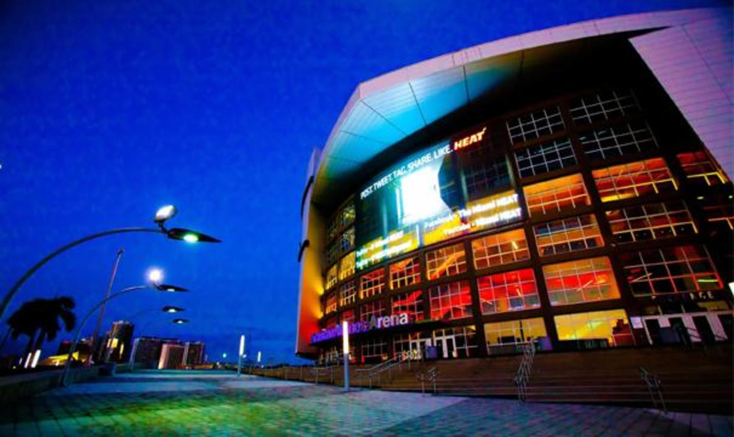 Main Entrance of the AmericanAirlines Arena