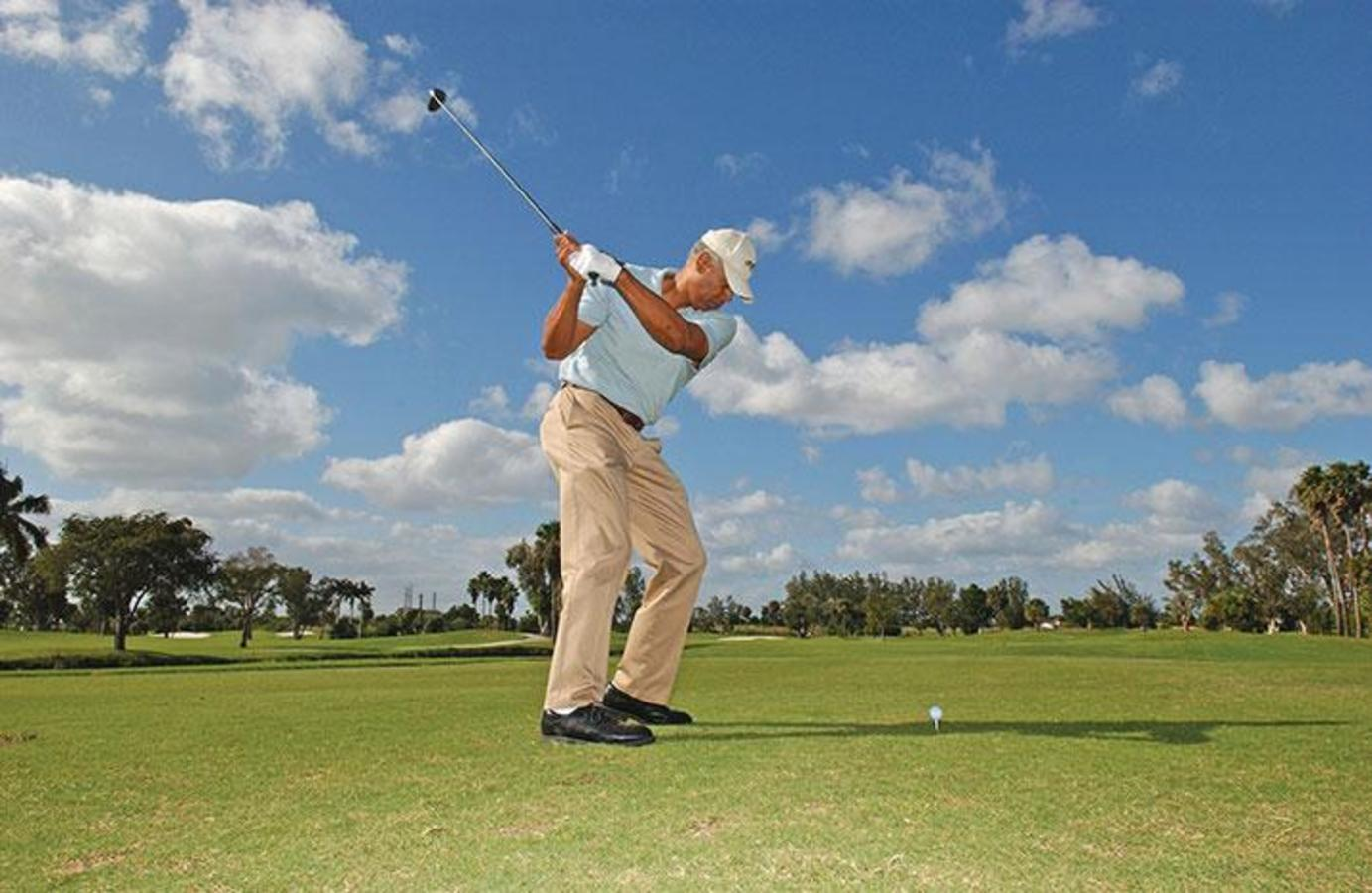 A golfer at Country Club of Miami
