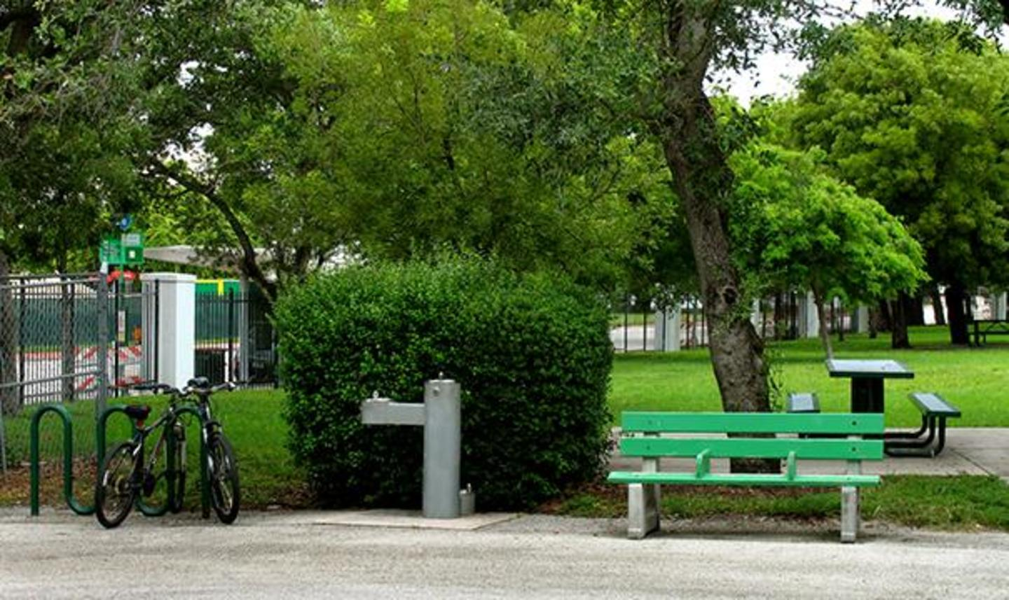 Bicycle rack and bench