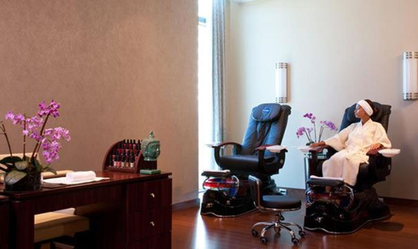 Full service salon for hair and nails.