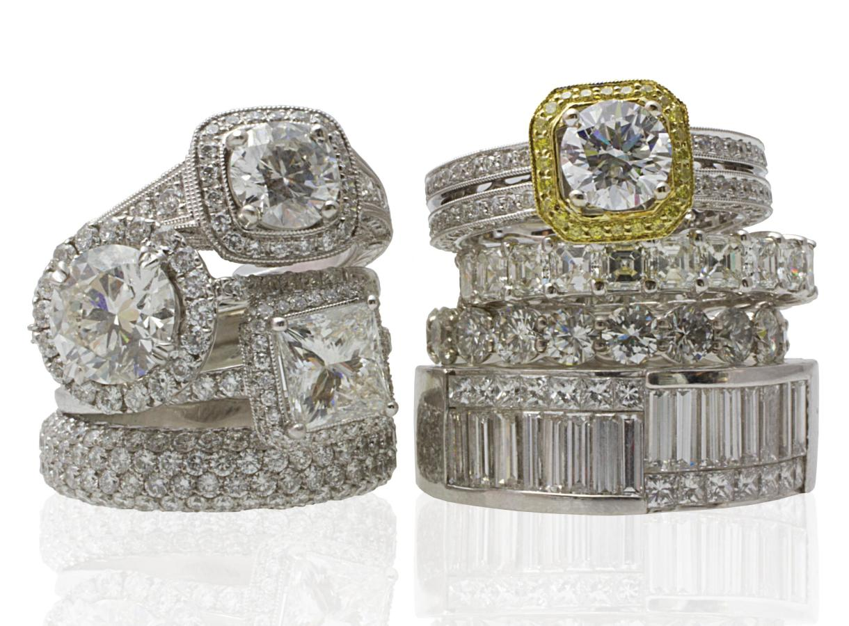 Variety of Engagement & Wedding Rings