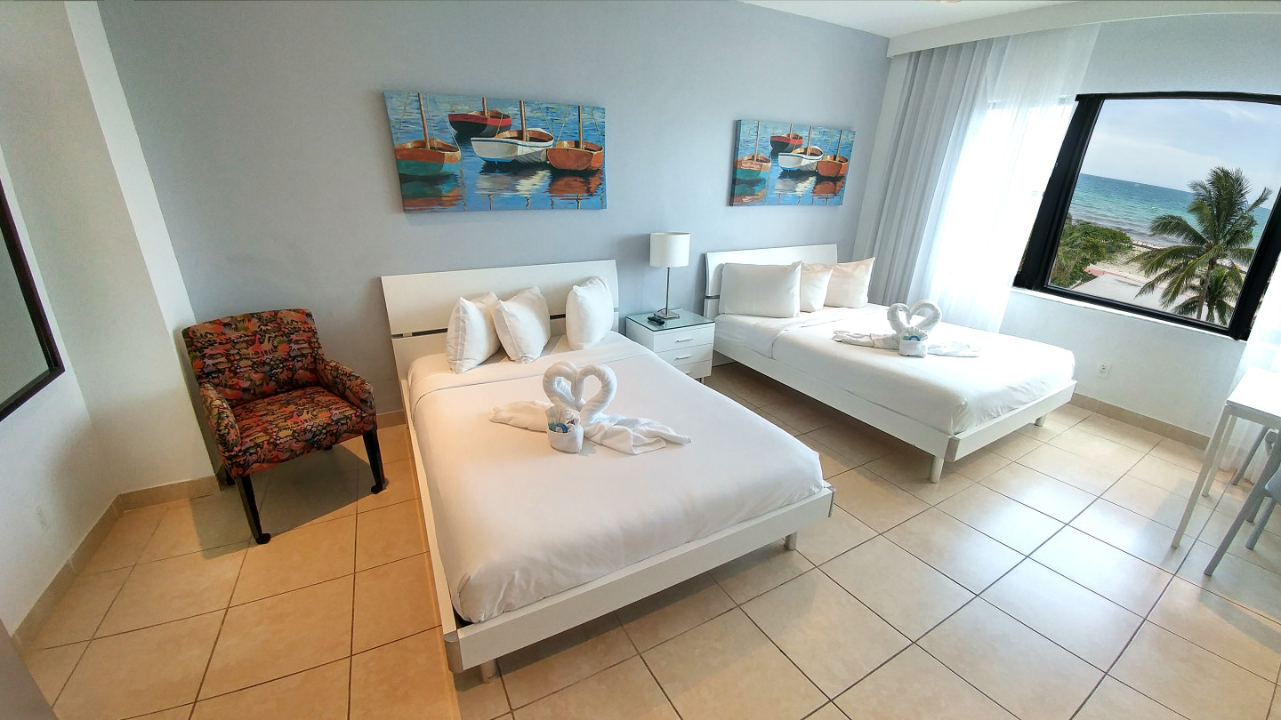 Two Double Beds - Ocean View