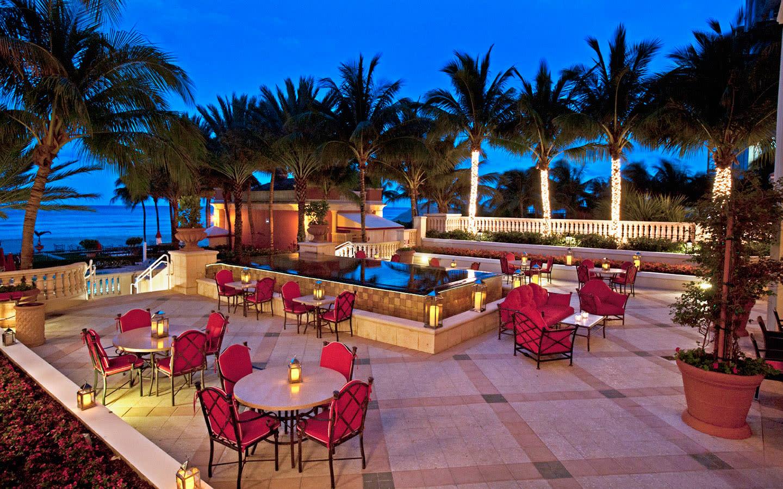 Acqualina Resort outdoor patio