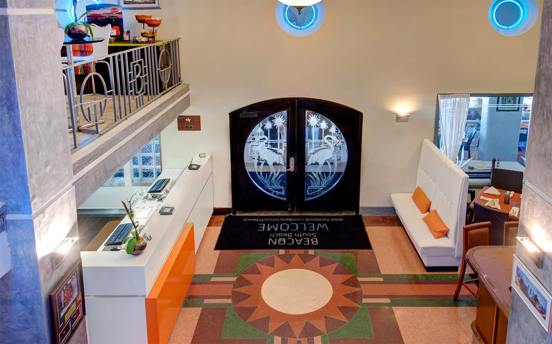 Art Deco Boutique Hotel Lobby