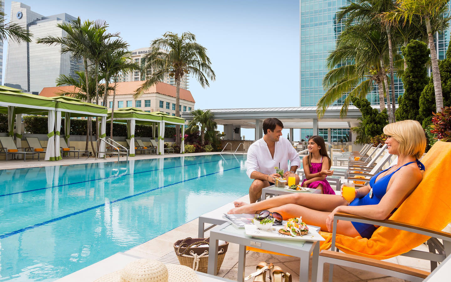 Relax in Conrad Miami's Rooftop Pool