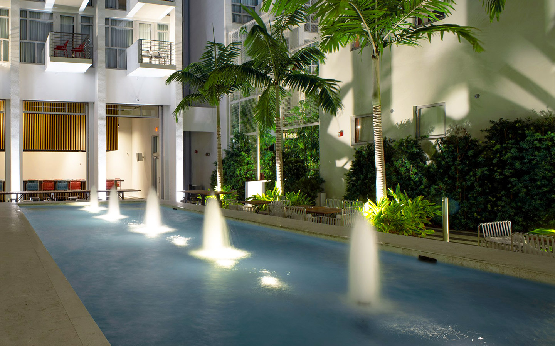 Fairwind Hotel fountain