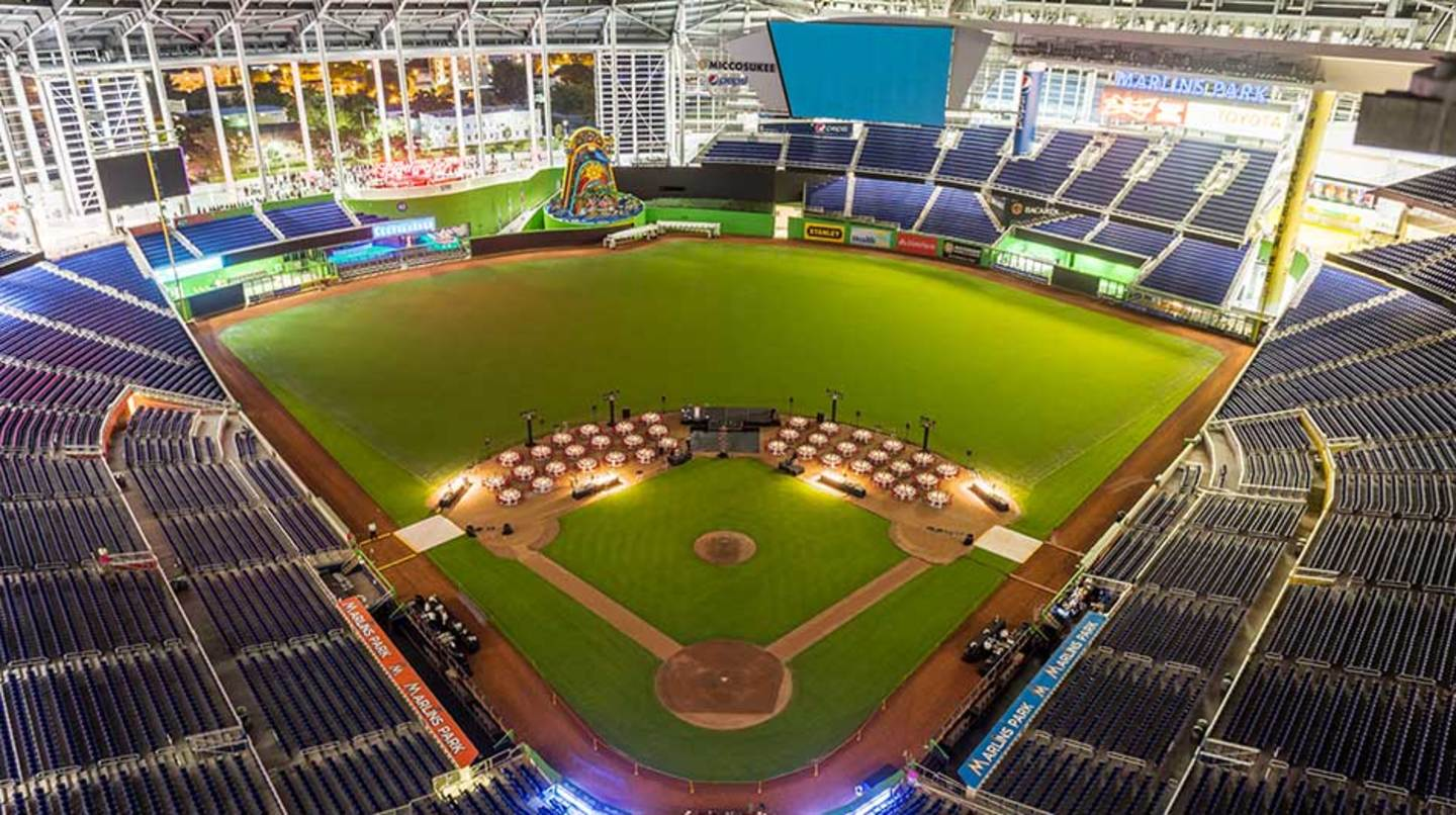 Infield dinner at Marlins Park
