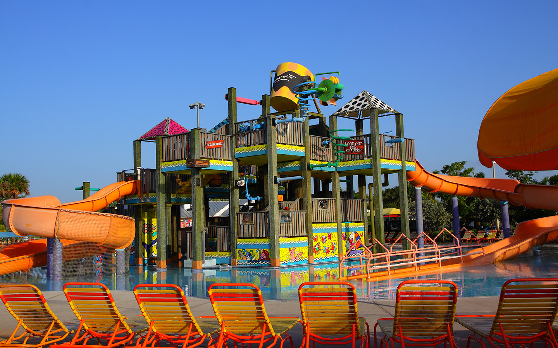 Mega Slide at Grapeland Water Park
