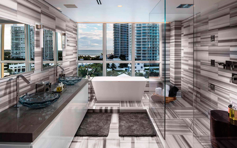 Luxury penthouse bathroom