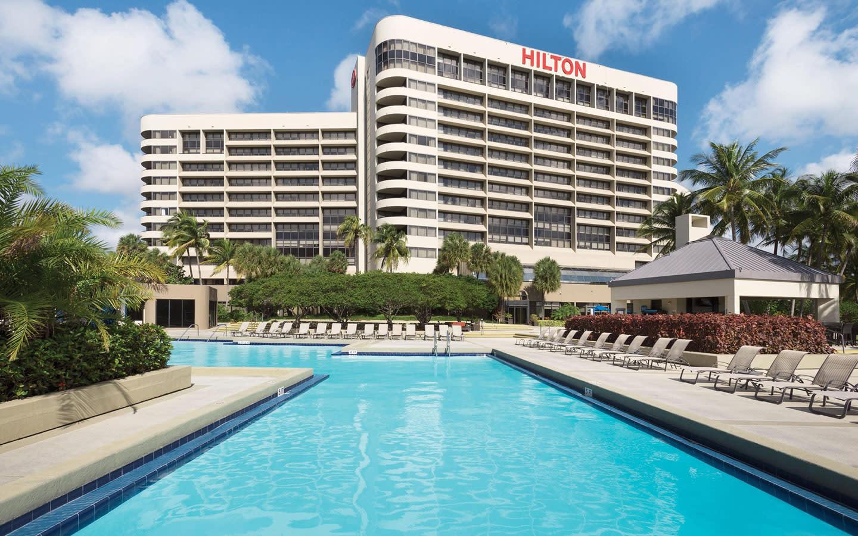 Poolside at the Hilton Miami Airport Blue Lagoon