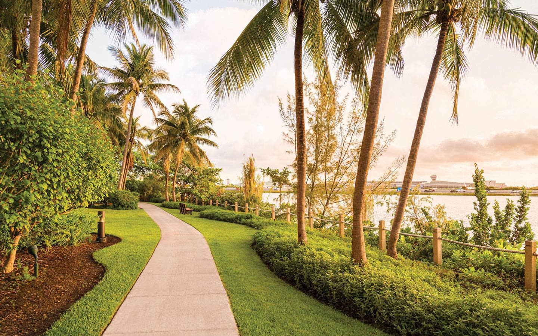 Take a  Jog at the Hilton Miami Airport Blue Lagoon