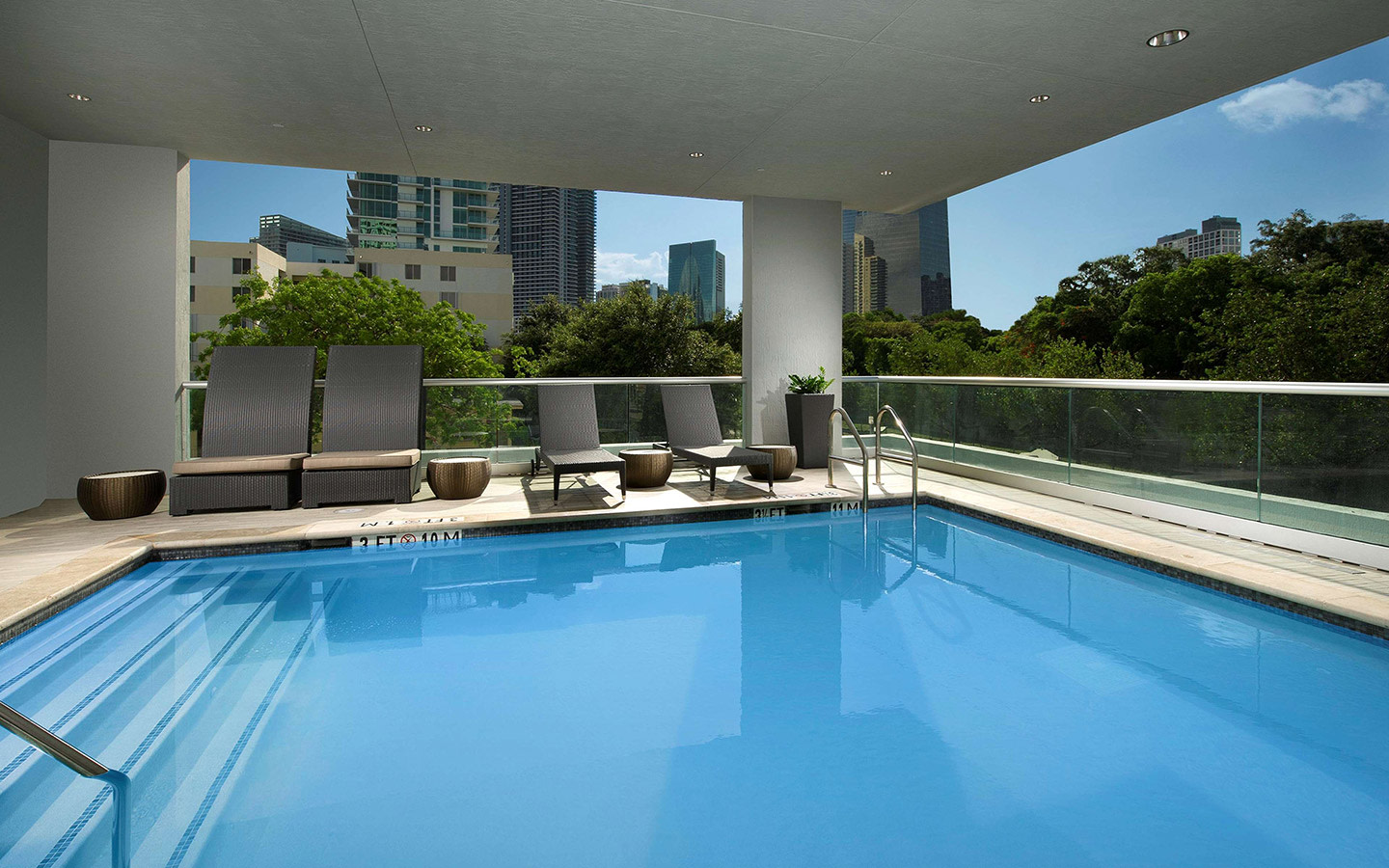 Beautiful Poolside Views at the Homewood Suites Miami