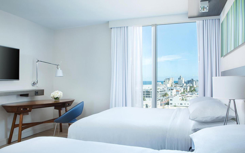 Ocean/City View Queen Guest Room