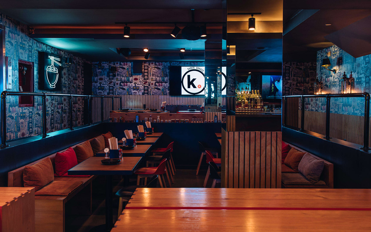 K Ramen. Burger. Beer. interior
