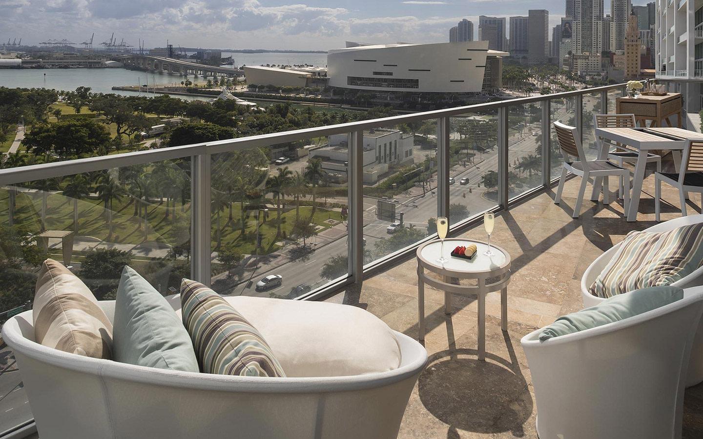 ME Miami Hotel balcony