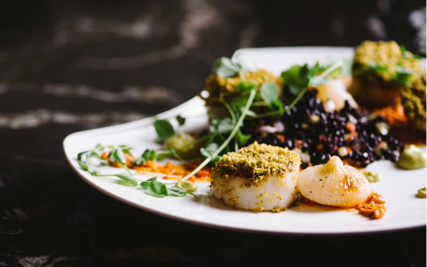 Pistachio Crusted Scallops