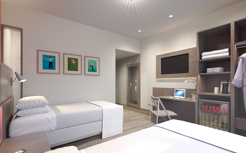 Atrium Ibis Twin Guestroom