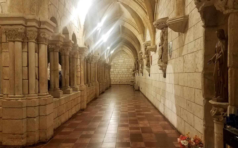 Ancient Spanish Monastery open-air walkway