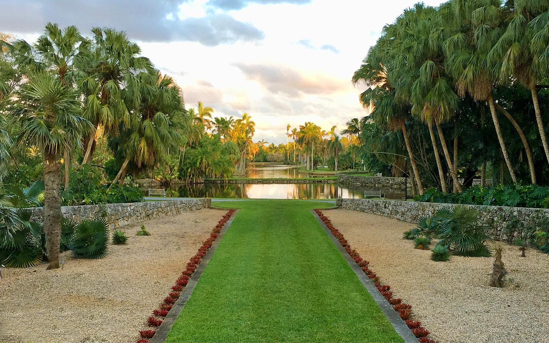 Beautiful garden pathway