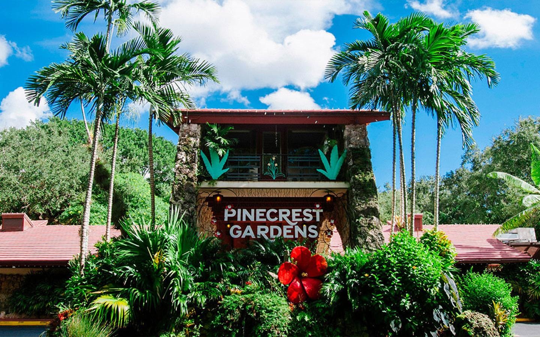 Pinecrest Gardens entrance