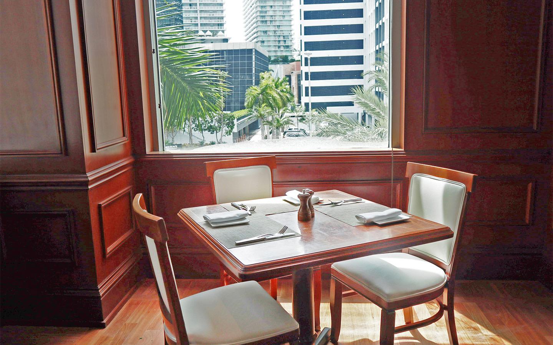 Intimate Corner Table