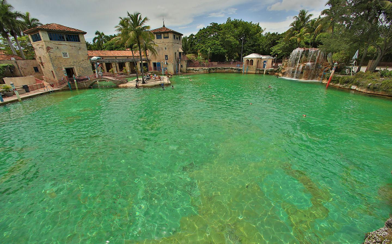 Venetian Pool waterfall