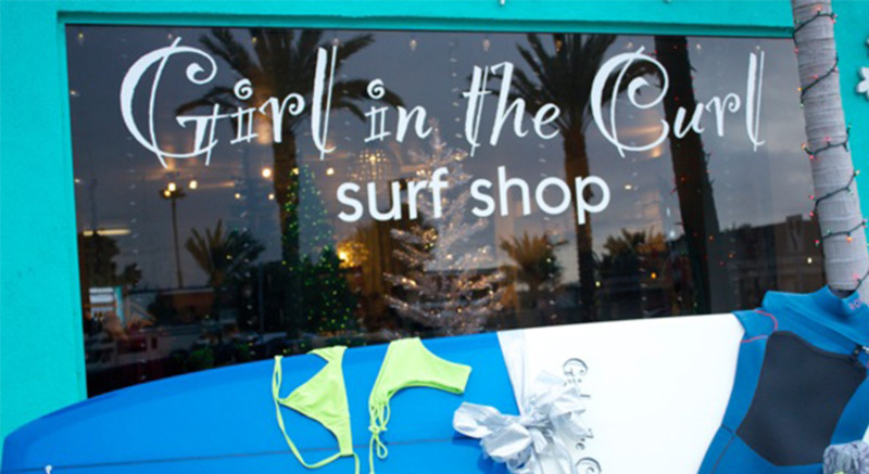 Girl in the Curl Surf Shop Image