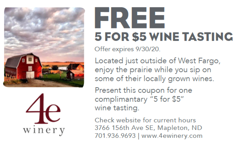 Free 5 for $5 Wine Tasting