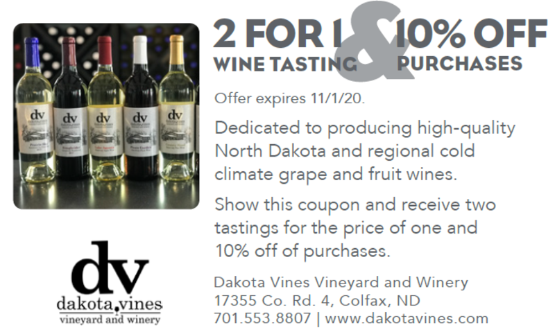 2-for-1 Wine Tasting & 10% Off Purchases