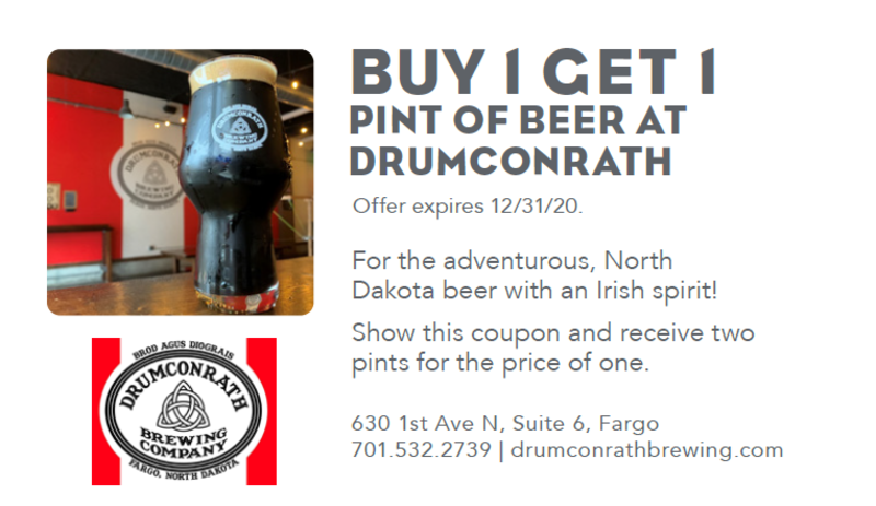 Buy 1, Get 1 Pint of Local Beer