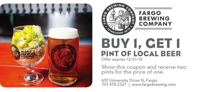 Buy 1, Get 1 Pint of Local Beer