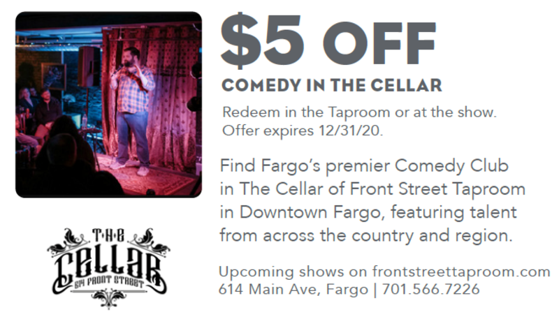 $5 off Comedy in the Cellar