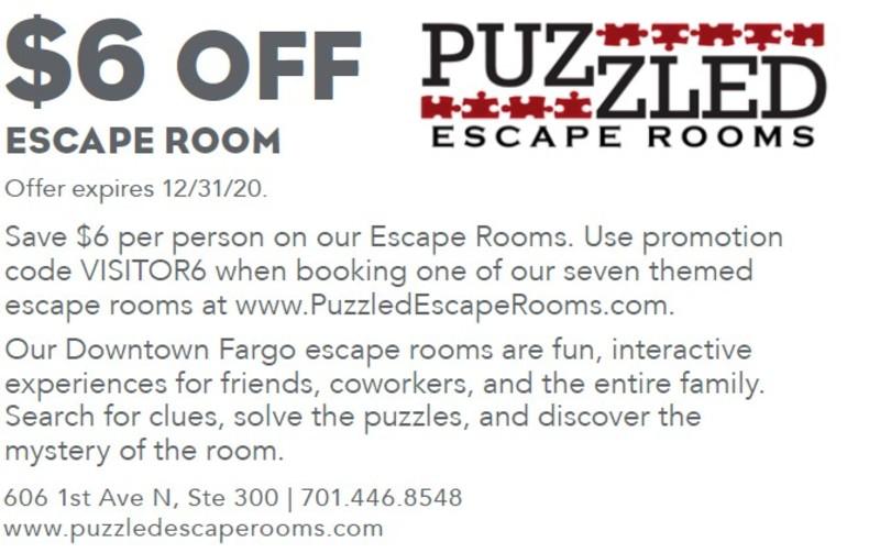 $6 off Escape Room