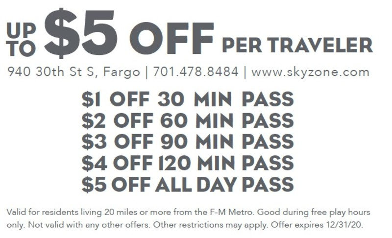 Up to $5 off Per Traveler