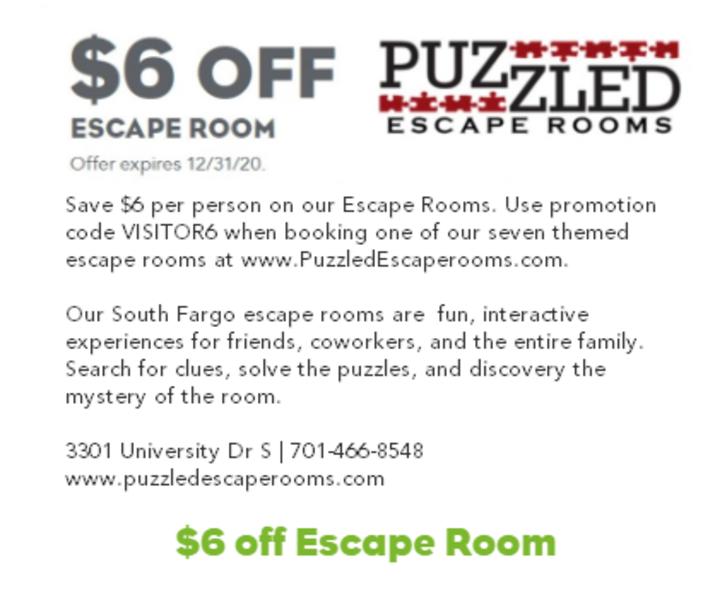 $6 Off Puzzled Escape Rooms