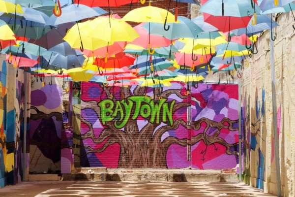 Umbrella Alley in Baytown