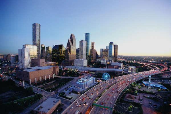Downtown Houston Skyline at Dusk