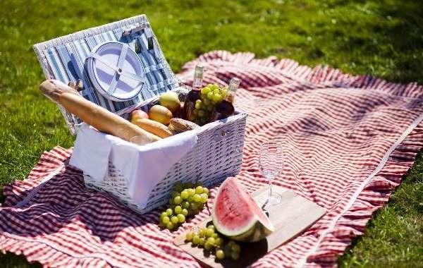 picnic stock photo