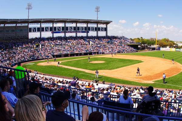A view from the stands at New York Yankees spring training baseball